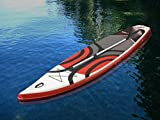 Pro 6, P6-Cruise, ISUP - Tabla de Paddle Hinchable de pie DE 28 x 89 x 15 cm, Color Blanco y Rojo
