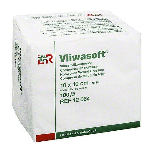 Vliwasoft 12064 Verbände, unsteril, 4-lagig 10 cm x 10 cm (100-er pack)