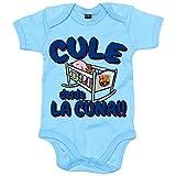 Body bebé Culé desde la cuna FC Barcelona - Celeste, 6-12 meses - Diver Bebé - amazon.es