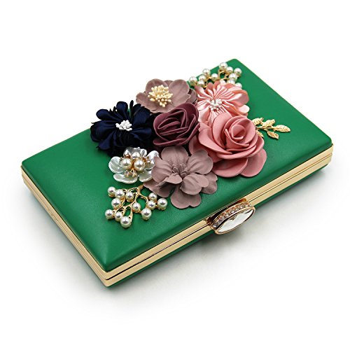 Flada , Damen Clutch rosa rosa (1) M grün