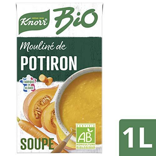 Knorr Soupe Liquide Mouliné de Potiron Carottes Brique 1L