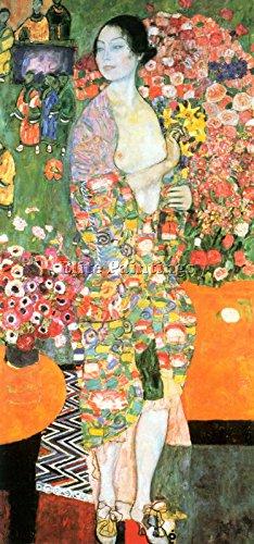 GUSTAV KLIMT THE DANCER BY KLIMT ARTISTA QUADRO DIPINTO OLIO SU TELA A MANO ARTE 120x60cm alta qualita