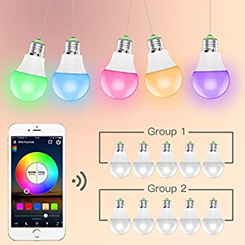 Magic Hue Led Mini Wifi Rgbw Gegenwert 40w Lampe, Dimmbar Energiesparlampen Mit Amazon Echo Alexa, Google Home, Ifttt, Sunrise 16 Mio Farben Leuchtmittel Sonnenaufgang E27 Für Android Und Ios 7