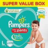 Pampers New Diaper Pants Super Value Box, Large (Pack of 176)