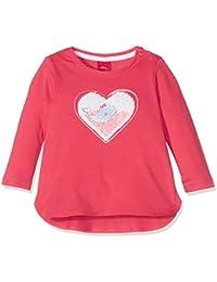 s.Oliver Baby-Mädchen Langarmshirt T-Shirt Langarm, Rosa (Purple/Pink 4518), 80