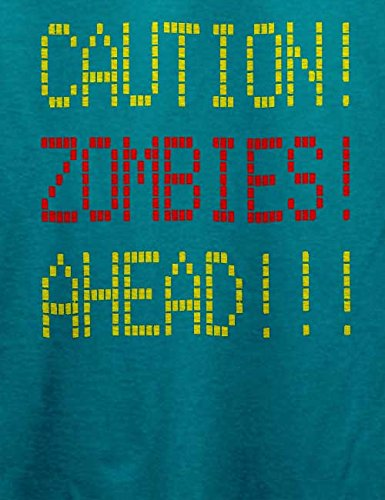 Caution Zombies Ahead T-Shirt Türkis