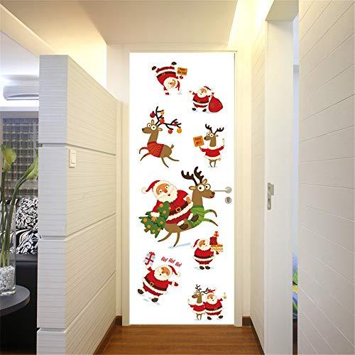 Havanadd Weihnachtsdekorationen Wandaufkleber Weihnachtsmann-Tür-Abdeckung wasserdicht für verzieren Weihnachtsjahreszeit Restaurant Café Hotel Home Office Dekor