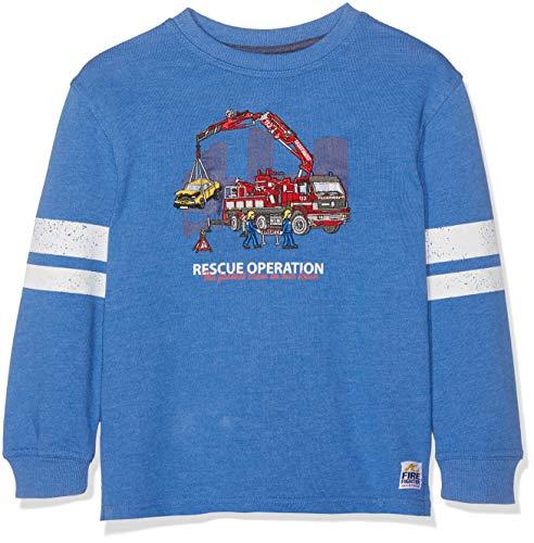SALT AND PEPPER Jungen Sweatshirt Sweat Fire Chief Uni Blau (Blue Melange 468) 92 (Herstellergröße: 92/98)