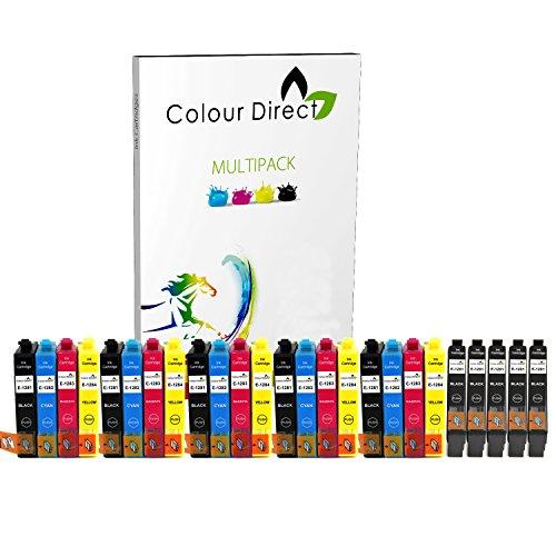 25 ( 5 Conjuntos + 5 Negro ) Alta Capacidad Colour Direct Compatible cartuchos de tinta Reemplazo para Epson Stylus S22 SX125 SX130 SX230 SX235W SX420W SX425W SX430W SX435W SX438W SX440W SX445W SX445WE Epson Stylus Office BX305F BX305FW impresoras .
