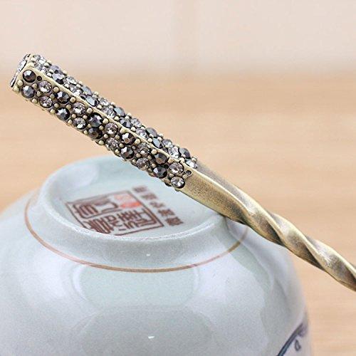 1 pièce de haute qualité, superbe cristal goutte d'eau Antique de cheveux, épingles à cheveux, baguettes, Accessoire Cheveux Bijoux cheveux, mariage, 7 couleurs
