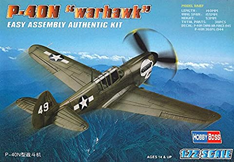 Hobbyboss 1:72 Scale P-40N Warhawk Diecast Model Kit