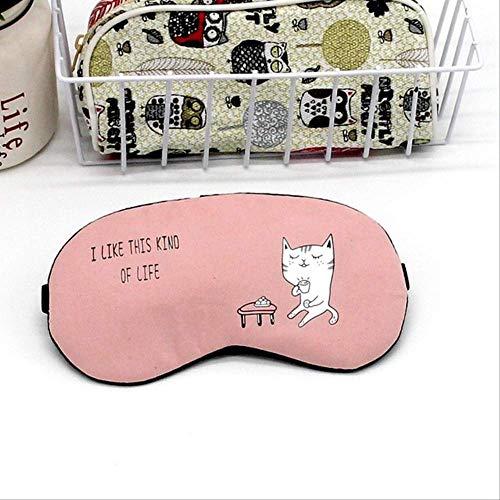 Schlafmasken, Schatten Eyepatch weicher Samt und Baumwolle Nahtlose Netter Hund Cartoon für Reisen Relax Schlaf - Beihilfen, für Jungen und Mädchen zum Geburtstag Urlaub Geschenke rosa -