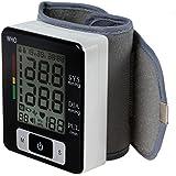 Aozzy Hohe Genauigkeit Automatisches, Digitale Handgelenk Blutdruckmessgerät mit Herzfrequenzerkennung, Großes LCD-Display, für Zuhause oder Reise
