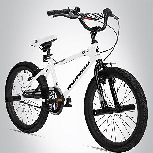 Bergsteiger Monaco 20 Zoll BMX, Kinderfahrrad, geeignet für 6, 7, 8, 9 Jahre, Freestyle, 4 Stahl Pegs, Kettenschutz, Freilauf