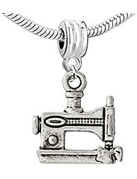 Sexy Sparkles Abalorio charm máquina de coser, compatible para la mayoría de pulseras de cadena