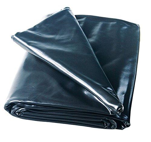 HEISSNER TF176-00 PVC Teichfolie, 0,5 mm, 24 qm, schwarz