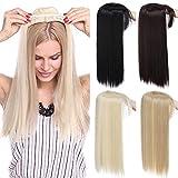TESS Pony Haarteil Clip in Extension wie Echthaar Topper 3 Clips Haarverlängerung Glatt Toupet für Haarausfall oder Graue Haare 17