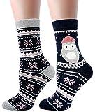 LITTONE® - 2 Paires - Chaussettes - Chaud chaussettes imprimé animal de couleur sucrerie - Femmes (LTNWMSOCK-005NS005)