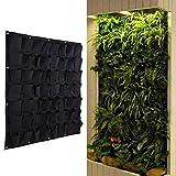 starnearby 56 Tasche Vertikale aufhängbare Garten Pflanzwand, Pflanzgefäß für Kräuter, Blumen (56 Tasche)