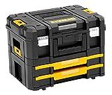 DeWalt TSTAK stabelbare Werkzeugbox (Transportbox Combo bestehend aus TSTAK II + TSTAK IV, kombinierbar mit anderen TSTAK-Boxen, sichere Verwahrung von Elektrowerkzeugen und Handwerkzeugen) DWST1-70702