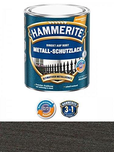 Preisvergleich Produktbild 750 ml Hammerite Direkt auf Rost Metall-Schutzlack Schwarz, Struktur-Effekt