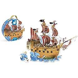 Puzzle de barco pirata, 39 piezas.