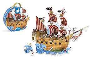 Janod Maleta Puzzle 39 Piezas, Barco Pirata (J02819)