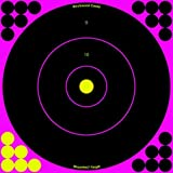 Shoot-N-C Targets: Bull's-Eye Pink, 12 B...