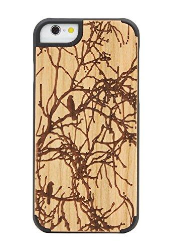 "SunSmart Apple iPhone 6 Plus Holz Hülle Klassische hölzerne Abdeckung iPhone 6 Natural Wood Schutzhülle für iPhone 6 Plus 5.5""-23 22"