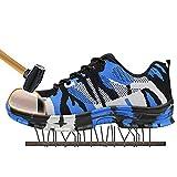 SITAILE Zapatos de Seguridad Para Hombre Calzado de Trabajo con Punta de Acero Zapatillas Botas de...