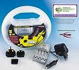 Ansmann Mikrocontrollergesteuertes Ladegeräte-Set für 2/4 Akkus Micro AAA/Mignon AA