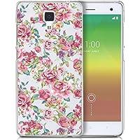Funda carcasa TPU Transparente para Xiaomi Mi4 diseño estampado flores rosas rojas azul verde