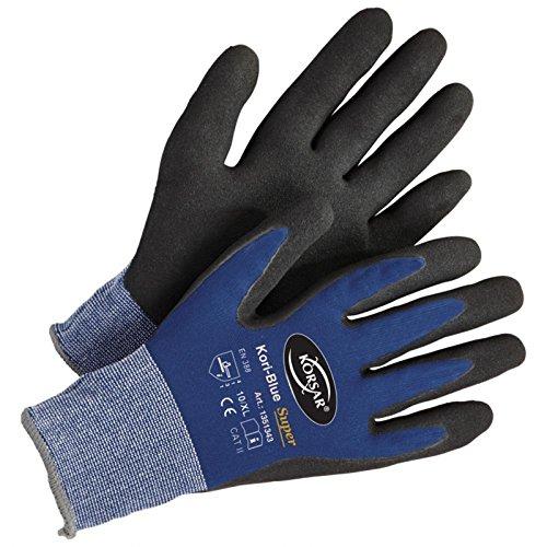 Lagerhandschuh Transporthandschuh Handschuh Kori-Super - Größe 9 - blau/schwarz