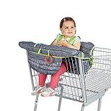 Baby Sitzbezug Reise, Kleinkind Hochstuhl Sicherheits Gurt Tragbar Kinder Einkaufswagenschutz,Grau