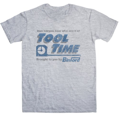 Refugeek Tees - Herren Tool Time T Shirt - Medium - Sport Grey (T-shirt Wieder Gelbe)