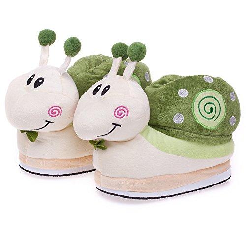 Minetom Unisex Autunno E Inverno Spesso Pantofole Peluche Cartoni Scarpe Halloween Cosplay Costume Verde
