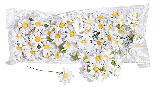 VBS Großhandelspackung 100 Mageriten Blumen Papier ca. 3cm weiß Blüten Kamille (Kamille-blüte)