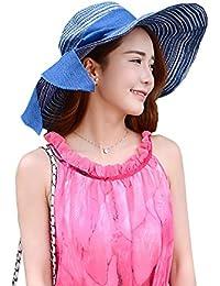 Damas   Chicas Sombrero de verano  Grande Sombrero de playa   Sombrero de  sol Para d0217d9527d