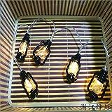 LED Petroleumlampe Laterne Lampe String Batterie Lampe im Freien Urlaub Hochzeit kleine Laterne 10 Meter 100 Lichter