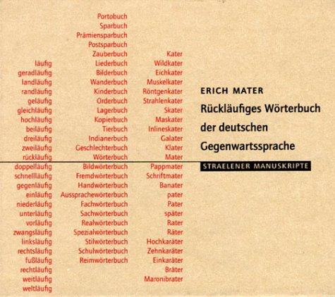 Rückläufiges Wörterbuch der deutschen Gegenwartssprache. CD-ROM.