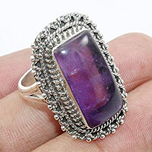 Classic Amethyst 925 Sterling Silver Cocktail Ring Jewelry