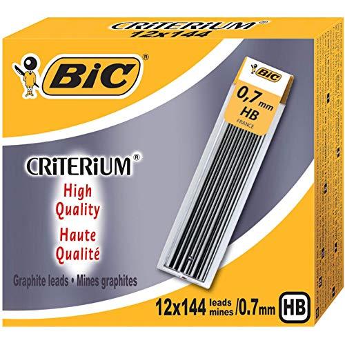 BIC Leads HB 0,7 mm Recambios Minas Portaminas Automático - Caja de 12 unidades
