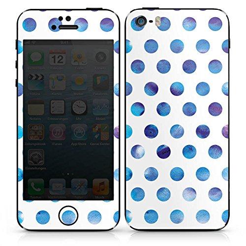 Apple iPhone SE Case Skin Sticker aus Vinyl-Folie Aufkleber Punkte Dots Wasserfarbe DesignSkins® glänzend