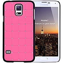 Alto Valor LUJO Samsung Glaxay S4 CRYSTAL Cruz duro de la cubierta del caso de Bling del diamante rosa con Marco Negro para Samsung Glaxay S4
