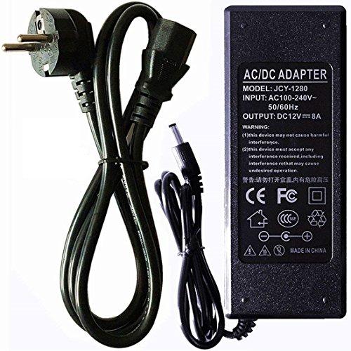 RPS 12V 8,5A 100W Fuente ALIMENTACION mit Stecker, Adapter Spannungswandler Trafo für LED, Video Überwachungskameras, oder allgemeine elektronische Allgemein Video