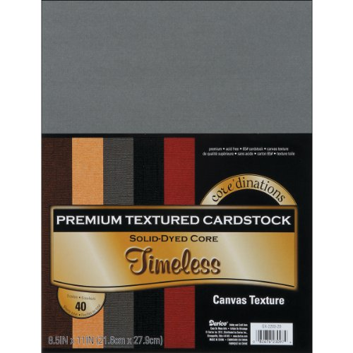Darice Core'dinations Value Pack Canvas Cardstock 8.5