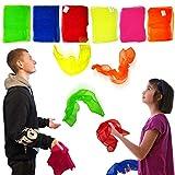 Flames N Games Jonglier- & Tanzschals - 3 - 2 Farbauswahl zur Auswahl! Perfekt für Jonglieren, Tanzen, Magie und Rhythmus (Gelb / Rosa / Orange, Groß (Erwachsene))