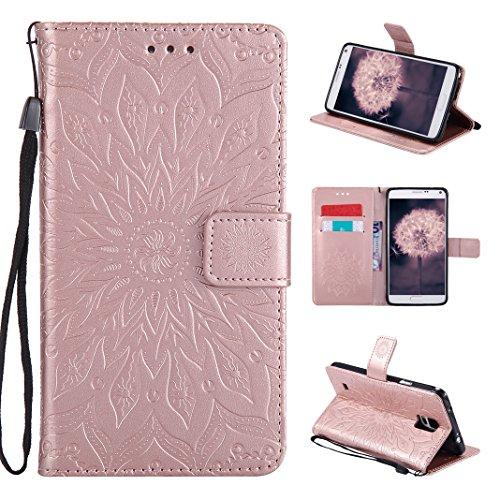 Galaxy Note 4 Funda, Carcasa Libro de PU de Cuero Impresión Asnlove PU Leather Con TPU Silicona Interna, Soporte Plegable, Ranuras para Tarjetas y Billetera, Cierre Magnético para Samsung Galaxy Note 4