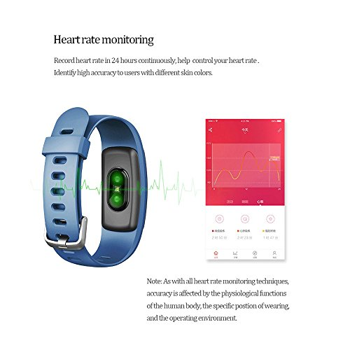 ANCHEER Fitness TrackerActivity Tracker Heart Rate Monitor StepSleepCalorie Counter CallSMS Reminder Bracelet Band Waterproof Wireless Bluetooth Wristband Pedometer Smart Watch