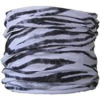 Braga para el cuello, pañuelo de microfibra multifunción, diseño de cebra
